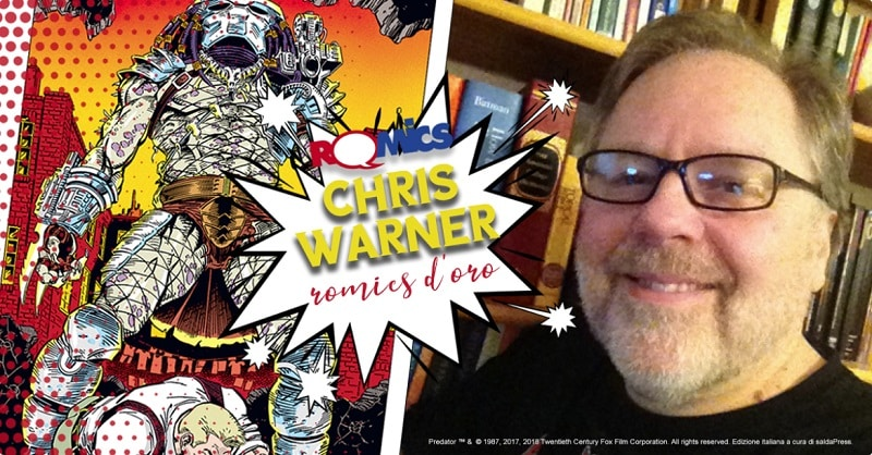 Romics D'oro a Chris Warner, ospite saldaPress alla prossima edizione di Romics