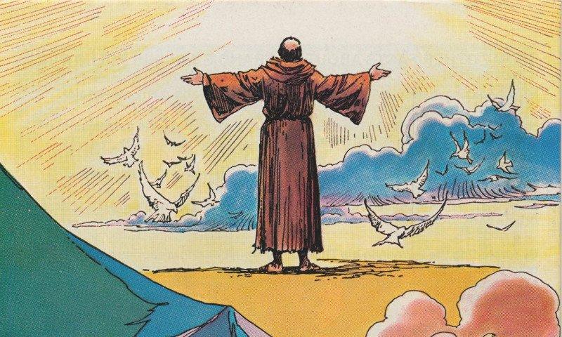 San Francesco raccontato a fumetti in una mostra