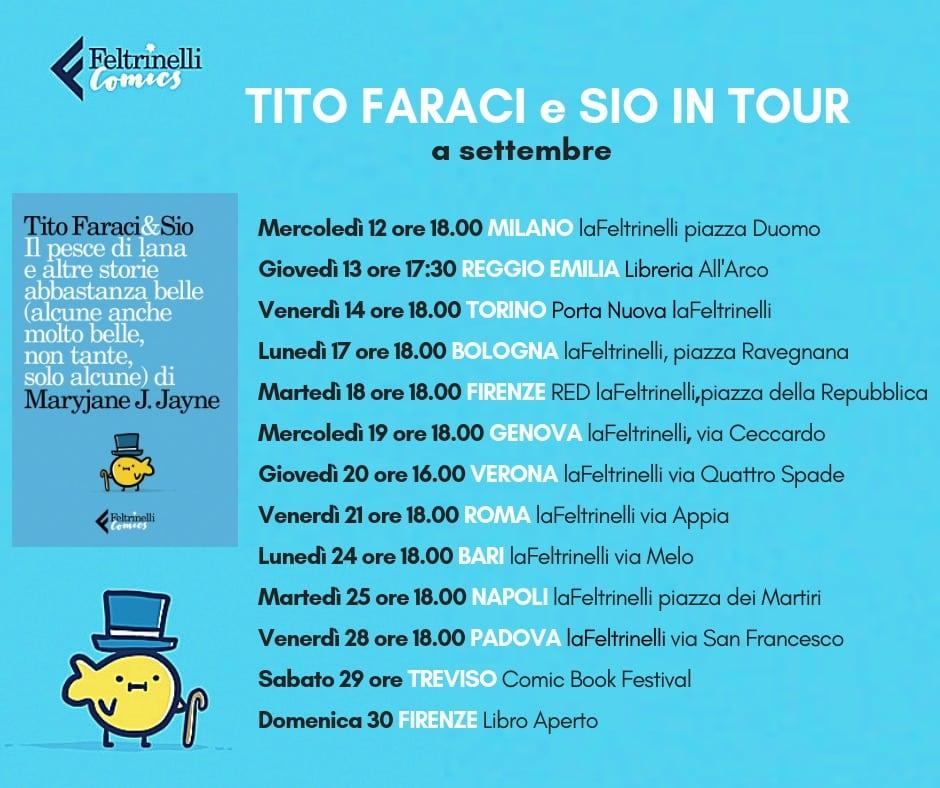 Le date del tour del nuovo libro di Tito Faraci e Sio