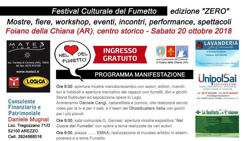 """Nasce il """"Festival Culturale del Fumetto"""" di Foiano della Chiana"""