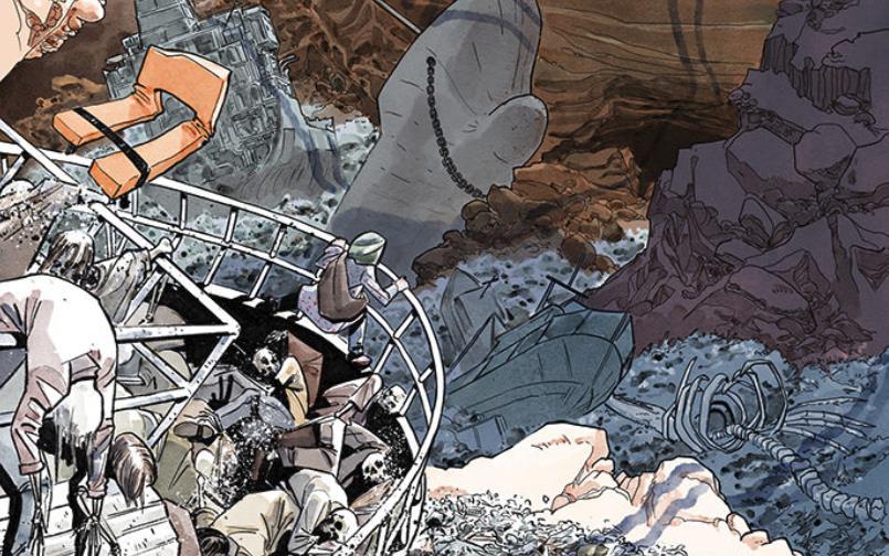 Nel fumetto, il Mediterraneo diventa un deserto