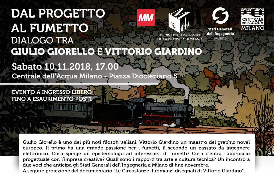 Dal progetto al fumetto: dialogo tra Giulio Giorello e Vittorio Giardino