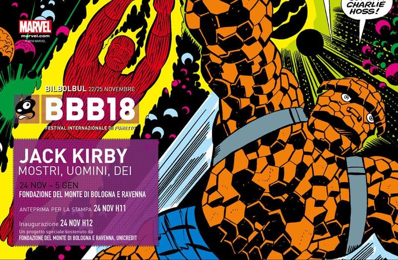 Mostri, uomini e dei: Jack Kirby a Bologna dal 24 novembre al 5 gennaio