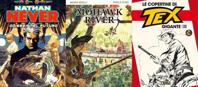 Nathan Never, Mohawk River e le copertine di Tex Gigante in libreria