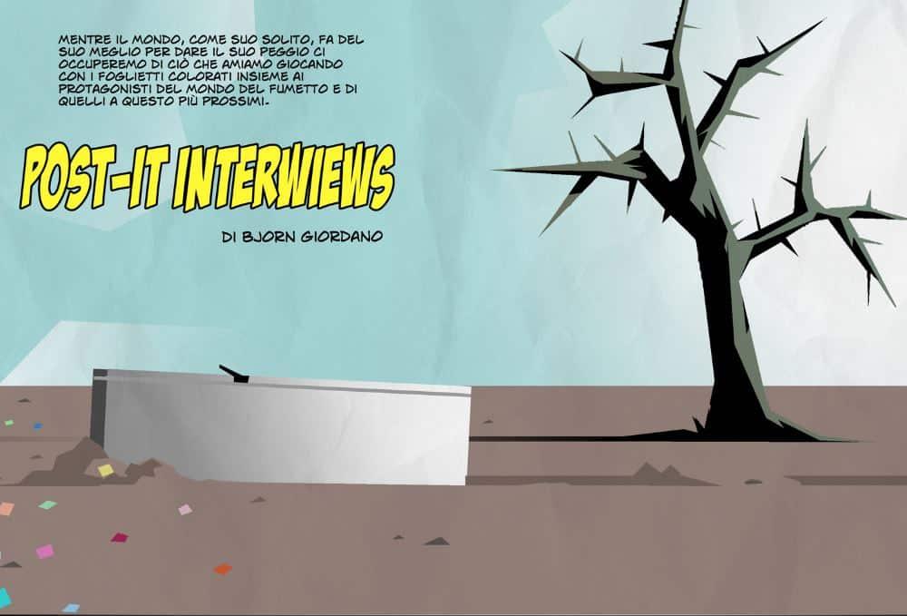 Post-It interview: Bjorn Giordano intervista Caza_Interviste