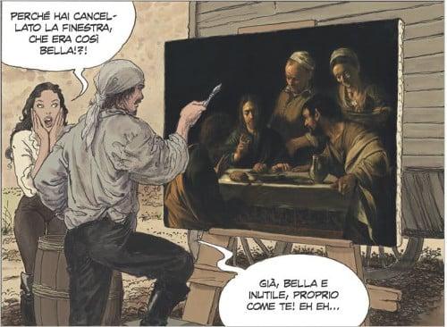 PaniniComics_Manara_Caravaggio_LaGrazia_vignetta 1