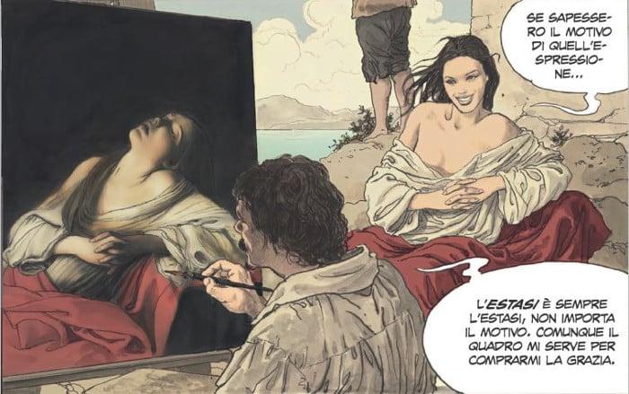 PaniniComics_Manara_Caravaggio_LaGrazia_vignetta 2