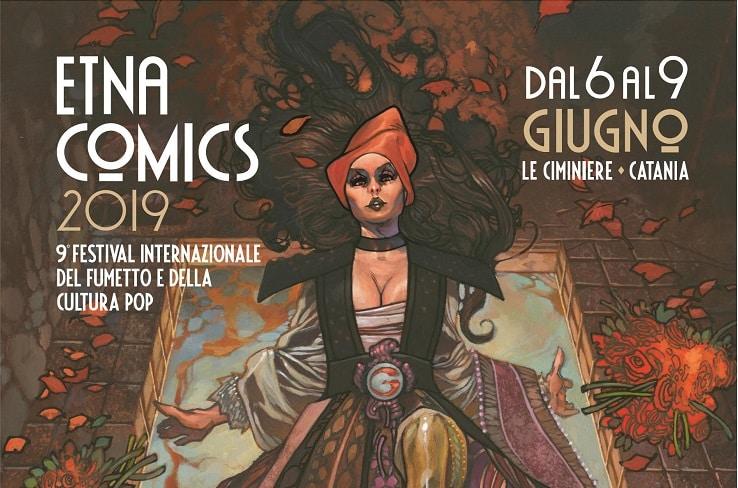 La locandina di Etna Comics 2019 realizzata da Simone Bianchi