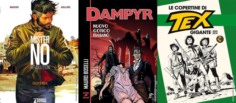 Mister No Revolution, Dampyr e le copertine di Tex in libreria