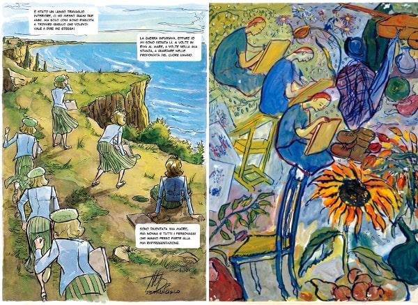 Piani sequenza a confronto: il fumetto di De Francisco e un quadro di Charlotte Salomon