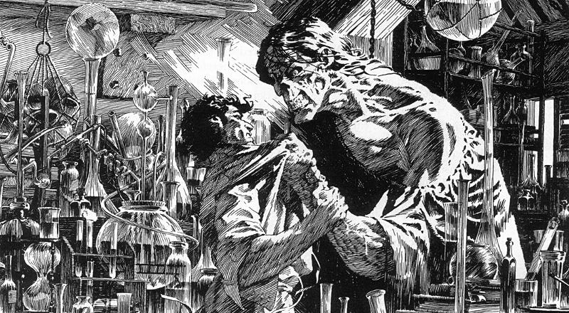 Il Frankenstein di Wrightson, tra acquaforte e fumetto