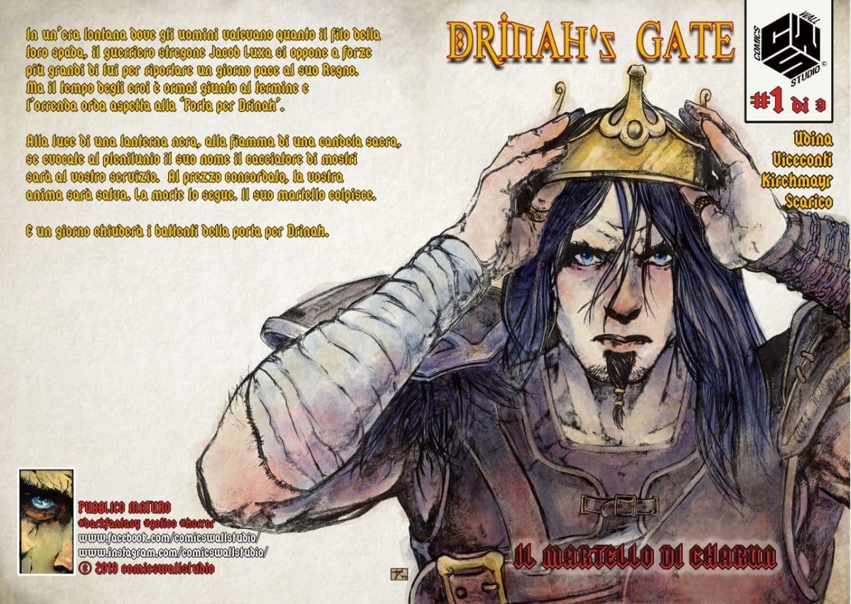 """Comics Wall Studio a Cartoomics 2019 con """"Drinah's Gate"""""""