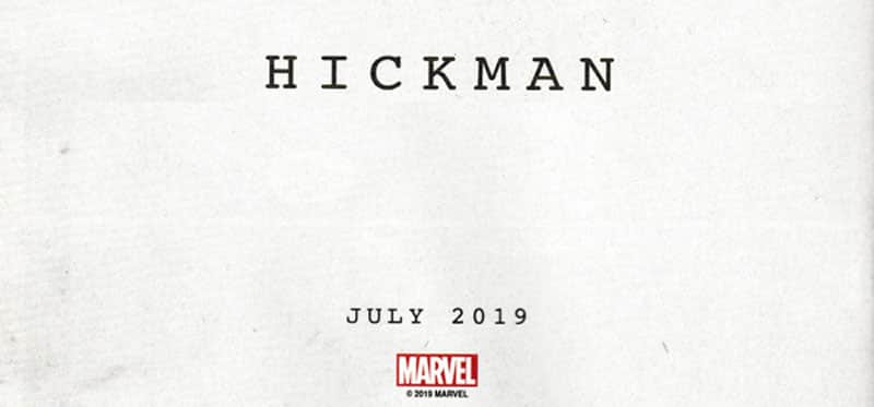 Jonathan Hickman ritorna alla Marvel Comics a luglio 2019