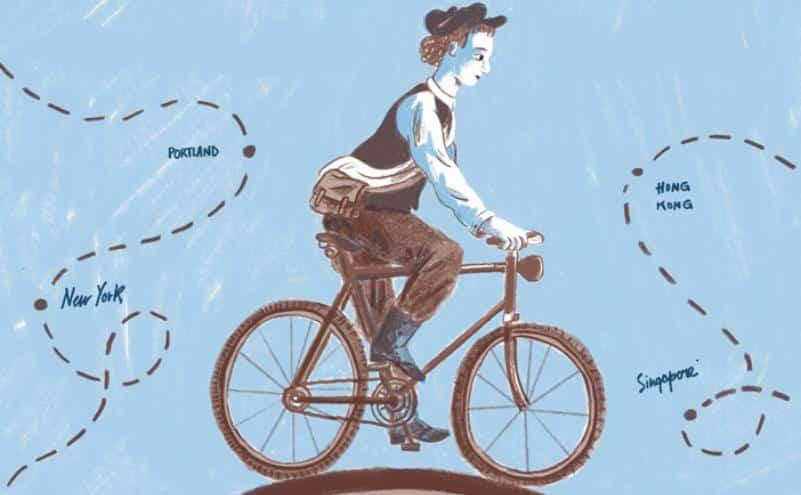 """Anteprima: Annie """"Londonderry"""", il giro del mondo in bicicletta a fumetti"""