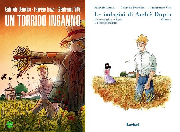 Un torrido confronto: l'edizione autoprodotta da LABO (a sinistra) e quella definitiva di Lavieri (a destra)
