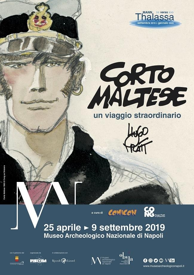 """COMICON: al MANN di Napoli la mostra """"Corto Maltese. Un viaggio straordinario"""""""