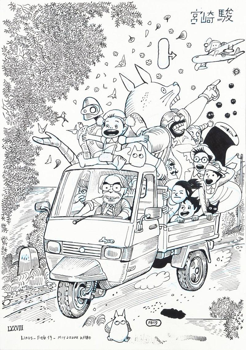 Lotto 493 - Bacilieri - omaggio a Miyazaki, copertina di linus