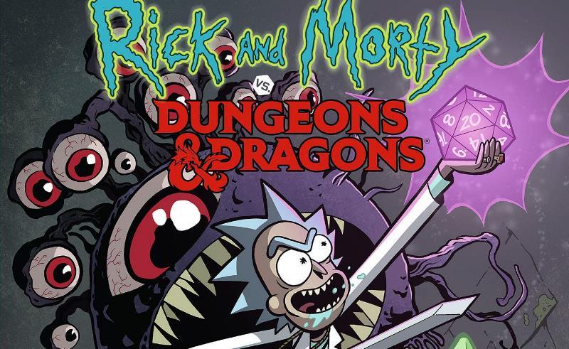 """""""Rick & Morty vs Dungeons & Dragons"""" il cross over a fumetti da Panini Comics"""