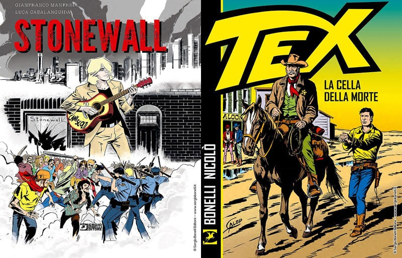 """""""Cani sciolti. Stonewall"""" e """"Tex. La cella della morte"""" a maggio in libreria"""
