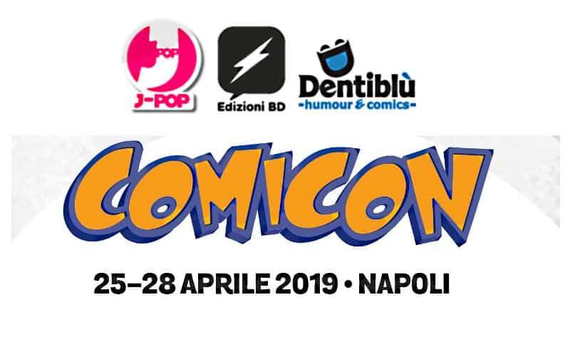 Edizioni BD, J-POP Manga e Edizioni Dentiblù al Comicon 2019