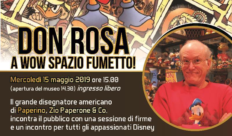 Don Rosa ospite del Museo WOW di Milano il 15 maggio 2019