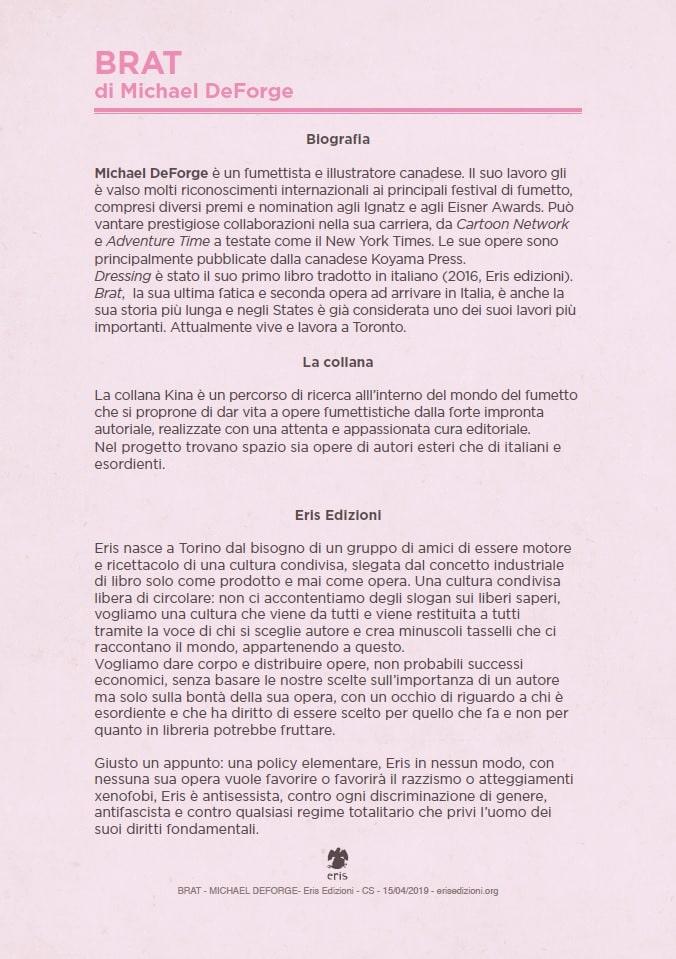 """Anteprima Eris Edizioni: """"Brat"""" di Michael DeForge_Anteprime"""