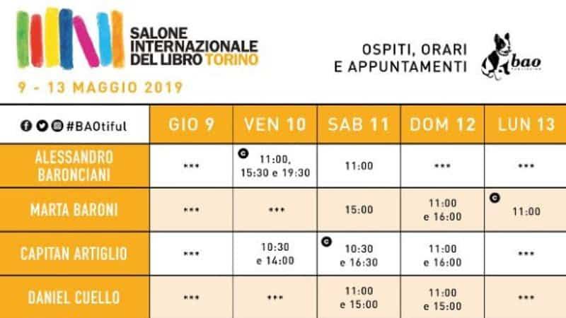 BAO Publishing al Salone del libro di Torino 2019
