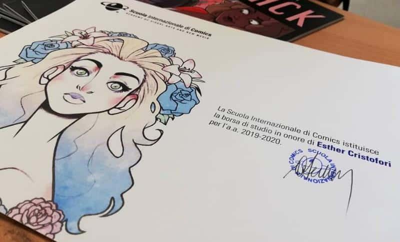 Scuola Internazionale di Comics intitola una borsa di studio a Esther Cristofori