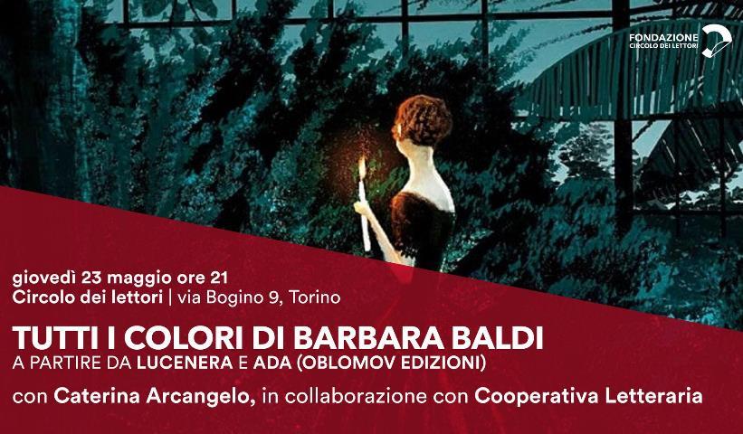 Incontro con Barbara Baldi a Torino presso Il Circolo dei lettori