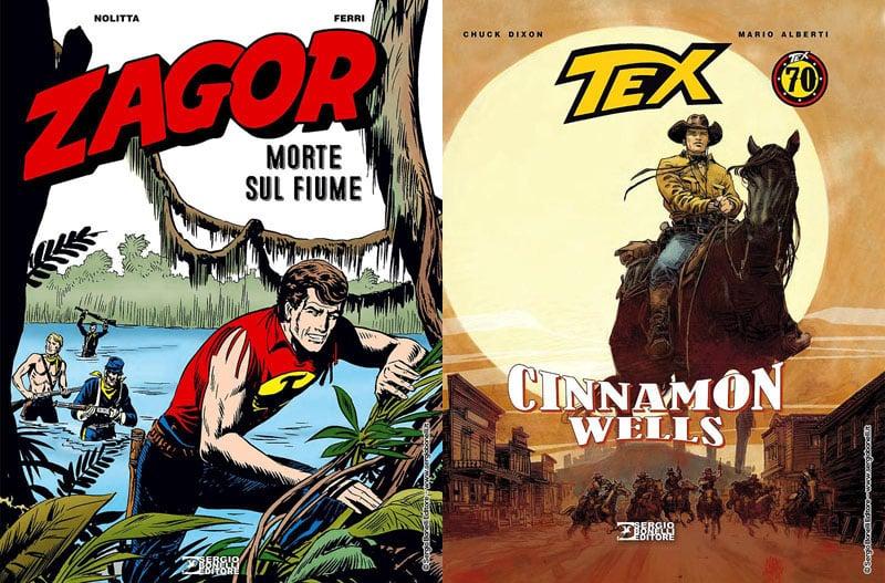 Zagor e Tex in libreria a giugno