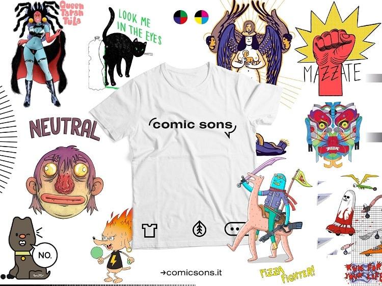 Arrivano le Comic Sons, le t-shirt ecologiche a fumetti