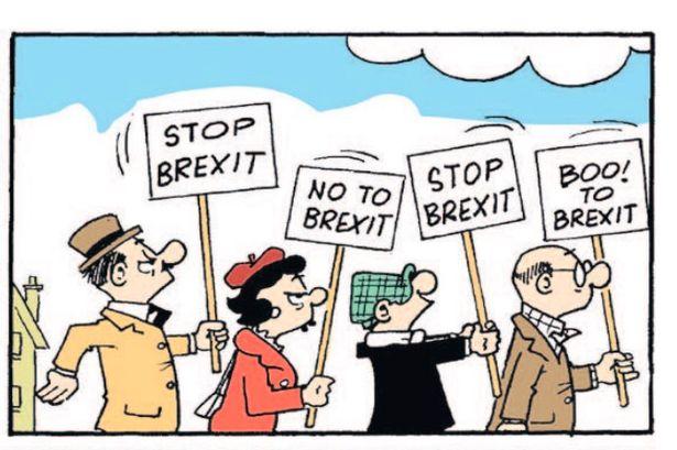 Andy Capp si schiera contro la Brexit