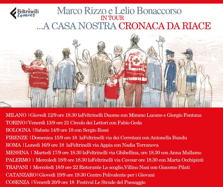 """""""...a casa nostra. Cronaca da Riace"""" di Marco Rizzo e Lelio Bonaccorso - Il tour_Notizie"""