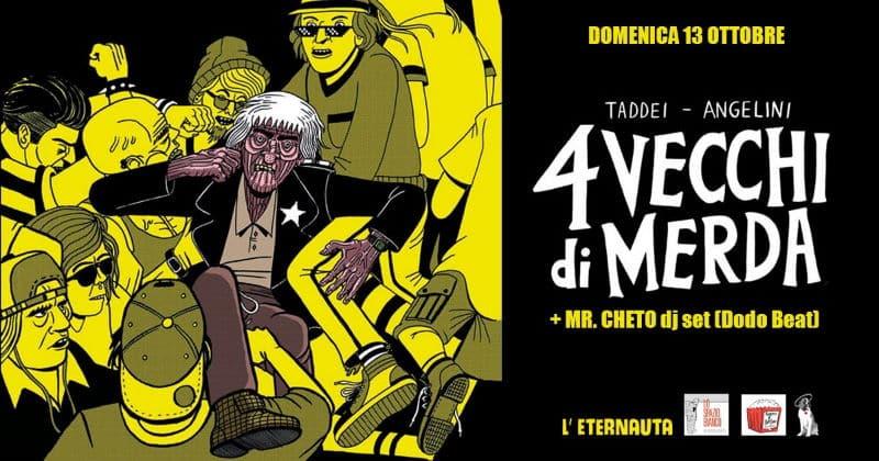 """Taddei e Angelini a Pisa con """"4 vecchi di merda"""" per Fumetti&Popcorn"""