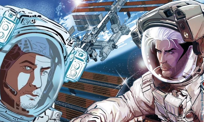 """Sergio Giardo: """"Sulla Stazione Spaziale con un fumetto"""""""
