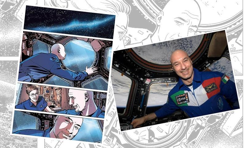 """Sergio Giardo: """"Sulla Stazione Spaziale con un fumetto""""_Interviste"""