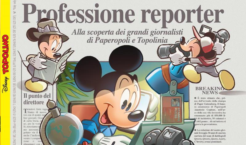 Topolino Magazine in edicola con un numero dedicato al giornalismo