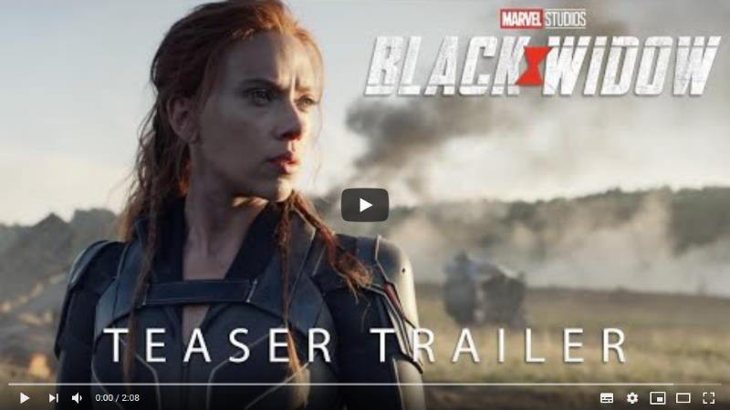 I Marvel Studio rilasciano il teaser trailer di Black Widow con Scarlett Johansson