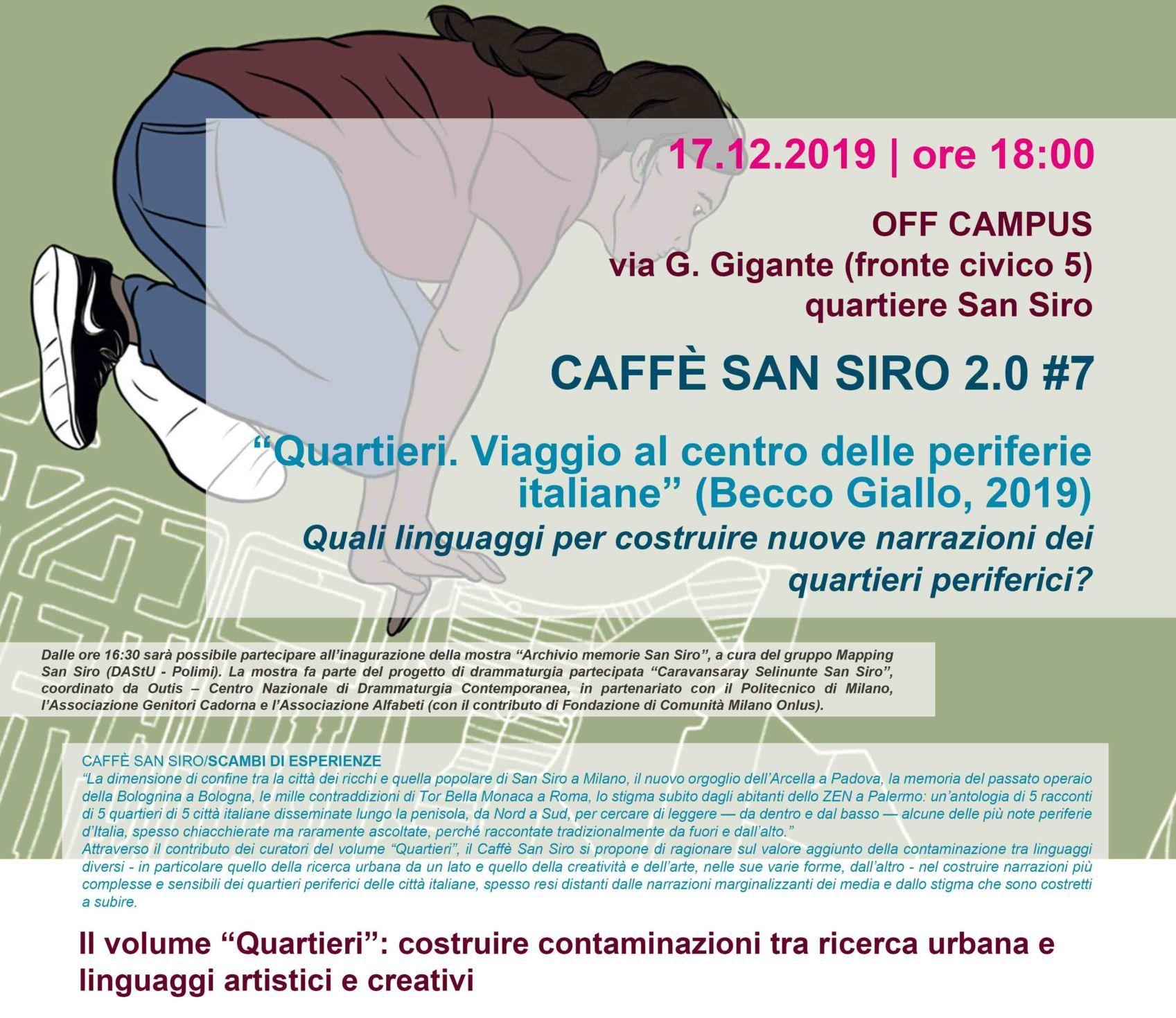 """Presentazione di """"Quartieri. Viaggio al centro delle periferie italiane"""" a Milano"""