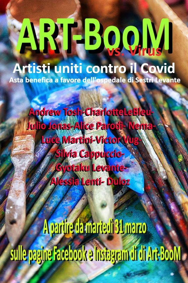 Art-BOOM vs Virus: evento per l'ospedale di  Sestri Levante