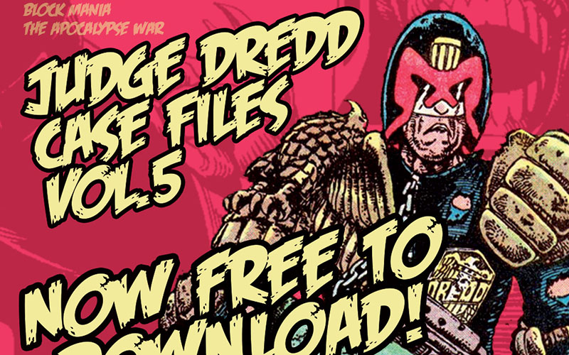 400 pagine di Judge Dredd gratuite