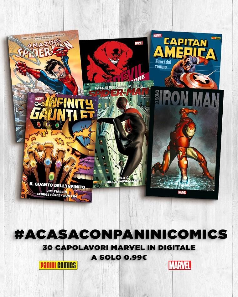 Panini: 30 volumi Marvel  in digitale a prezzo scontato