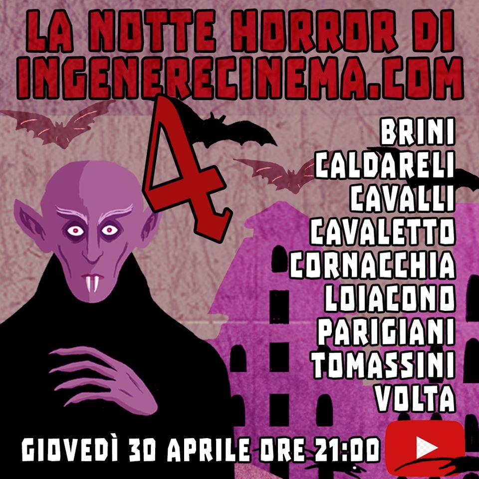 Andrea Cavaletto protagonista della notte horror di ingenerecinema.com