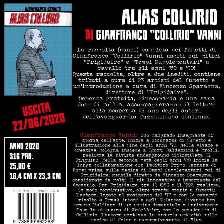 """Gonzo editore pubblica """"Alias Collirio"""""""