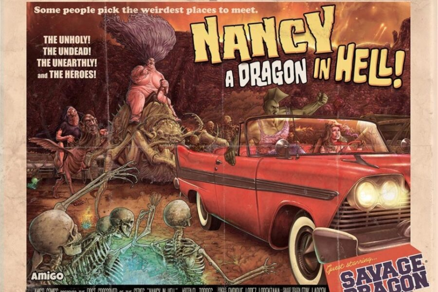 Nancy in Hell & Savage Dragon: a dragon in Hell (Torres, Lorenzana)