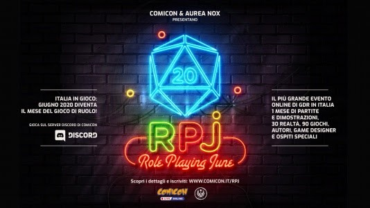 "Comicon – ""RPJ – Role Playing June"": evento GDR online"