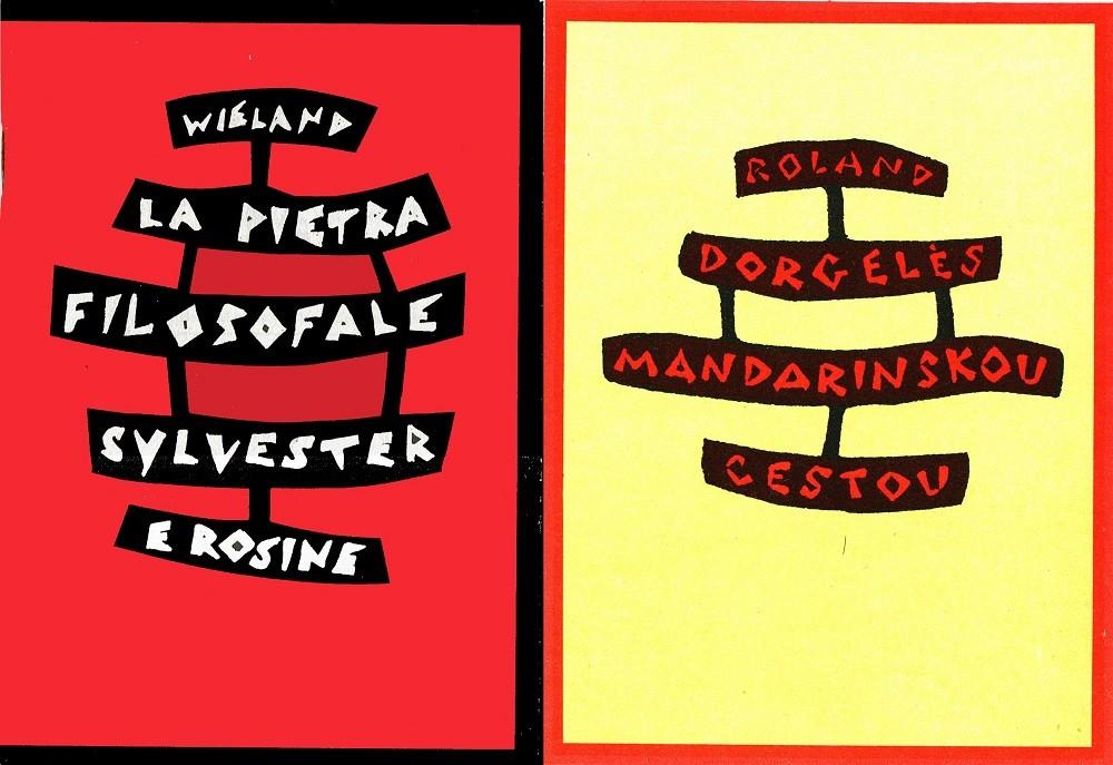 Due copertine a confronto - Millelire e Josef Capek 4