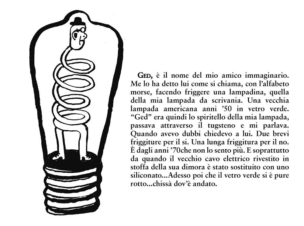 Ged, lo spiritello della lampada -illustrazione di Sarah Mazzetti