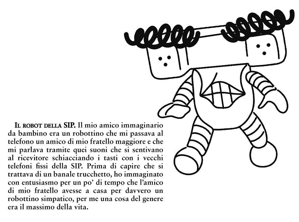Il robot della SIP - illustrazione di Fabio Tonetto