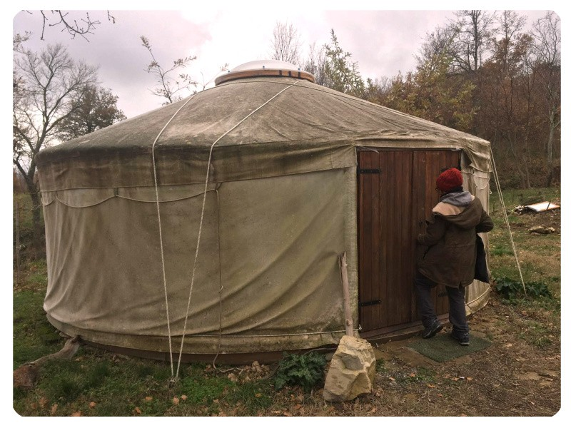 La yurta mongola - sede della prima redazione